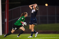 Sky Blue FC midfielder Katy Freels (Frierson) (17) reacts to a missed scoring opportunity. Sky Blue FC and the Boston Breakers played to a 0-0 tie during a National Women's Soccer League (NWSL) match at Yurcak Field in Piscataway, NJ, on July 13, 2013.