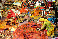 Women Sawing traditional GarmentsBikaner Rajasthan India,