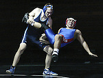 Action from a wrestling league in Gardnerville, Nev., on Jan. 8, 2003..Photo by Cathleen Allison