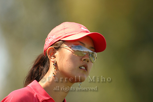 Apr. 2, 2006; Rancho Mirage, CA, USA; Michelle Wie watches her tee shot during the final round of the Kraft Nabisco Championship at Mission Hills Country Club. ..Mandatory Photo Credit: Darrell Miho.Copyright © 2006 Darrell Miho .
