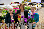 Bridie Goodwin, Maureen O'Callaghan, Kathleen Spillane, Vice President of Castlegregory ICA Guild at the Castlegregory Pattern Day Horticultural Show on Friday