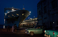 HAVANA, CUBA- JUNE 4: The Norwegian SKY cruise ship docked the last day in Havana on June 4, 2019. Cruise ships will no longer operate to  Cuba. Trump administration banned cruises, private yachts and fishing vessels from visiting Cuba,  (Photo by Eliana Aponte/VIEWpress)
