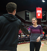 Stanford, CA - January 24, 2020: Erin Burdette at Maples Pavilion. The Stanford Cardinal defeated the Colorado Buffaloes in overtime, 76-68.