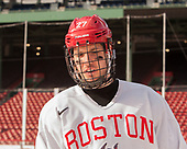 Doyle Somerby (BU - 27) - The Boston University Terriers practiced on the rink at Fenway Park on Friday, January 6, 2017.The Boston University Terriers practiced on the rink at Fenway Park on Friday, January 6, 2017.
