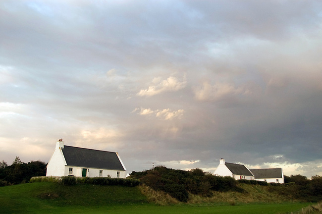 Housekeeping cottages in Louisburgh, Ireland. County Mayo.