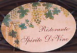 Painted Sign, Spirito Divino Restaurant, Rome, Italy