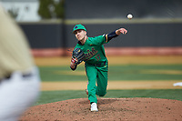 Notre Dame Fighting Irish relief pitcher Aidan Tyrell (17) in action against the Wake Forest Demon Deacons at David F. Couch Ballpark on March 10, 2019 in  Winston-Salem, North Carolina. The Demon Deacons defeated the Fighting Irish 7-4 in game one of a double-header.  (Brian Westerholt/Four Seam Images)