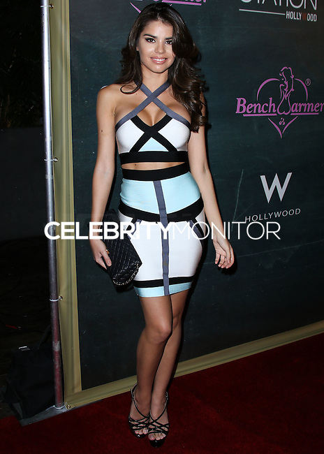 HOLLYWOOD, LOS ANGELES, CA, USA - AUGUST 28: Mabelynn Capeluj arrives at the Benchwarmer Back To School Celebration to Benefit Children of the Night held at Station Hollywood at the W Hotel Hollywood on August 28, 2014 in Hollywood, Los Angeles, California, United States. (Photo by Xavier Collin/Celebrity Monitor)