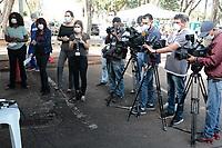 Campinas (SP), 08/04/2020 - Covid-19/Atendimento Unicamp - Coletiva de Imprensa. Em funcionamento nesta terça-feira (8), no estacionamento dos Hospital de Clinicas da Unicamp, na cidade de Campinas, interior de São Paulo uma tenda dos Expedicionários da Saúde para ajudar no Pronto Atendimento para demandas relacionadas ao novo coronavírus.