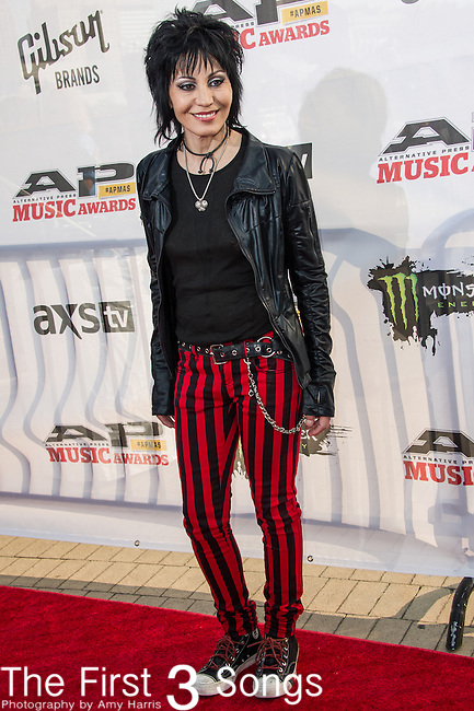 Joan Jett attends the 2014 AP Music Awards at the Rock And Roll Hall Of Fame and Museum at North Coast Harbor in Cleveland, Ohio.