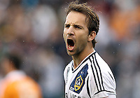 CARSON, CA - DECEMBER 01, 2012:   Mike Magee (18) of the Los Angeles Galaxy against the Houston Dynamo during the 2012 MLS Cup at the Home Depot Center, in Carson, California on December 01, 2012. The Galaxy won 3-1.
