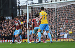 West Ham's Aaron Cresswell puts the ball in his own net to put Crystal Palace 1-0 up<br /> <br /> Barclays Premier League - West Ham United  vs Crystal Palace  - Upton Park - England - 28th February 2015 - Picture David Klein/Sportimage