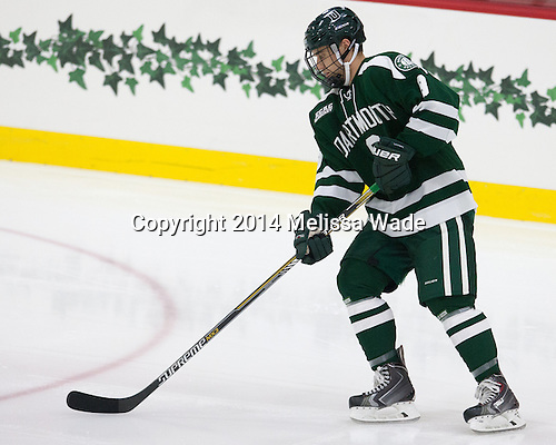 Tim O'Brien (Dartmouth - 8) - The Harvard University Crimson tied the visiting Dartmouth College Big Green 3-3 in both team's first game of the season on Saturday, November 1, 2014, at Bright-Landry Hockey Center in Cambridge, Massachusetts.