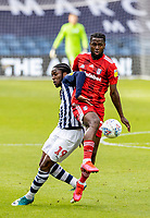 Fulham's Joshua Onomah (right) competing with West Bromwich Albion's Romaine Sawyers <br /> <br /> Photographer Andrew Kearns/CameraSport<br /> <br /> The EFL Sky Bet Championship - West Bromwich Albion v Fulham - Tuesday July 14th 2020 - The Hawthorns - West Bromwich <br /> <br /> World Copyright © 2020 CameraSport. All rights reserved. 43 Linden Ave. Countesthorpe. Leicester. England. LE8 5PG - Tel: +44 (0) 116 277 4147 - admin@camerasport.com - www.camerasport.com