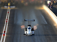 Feb 27, 2016; Chandler, AZ, USA; NHRA top fuel driver Antron Brown during qualifying for the Carquest Nationals at Wild Horse Pass Motorsports Park. Mandatory Credit: Mark J. Rebilas-USA TODAY Sports