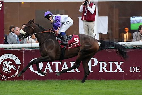 07.10.12 Paris France Molly Malone with Umberto Rispoli Up Wins The Qatar Prix You Cadran Longchamp Racecourse