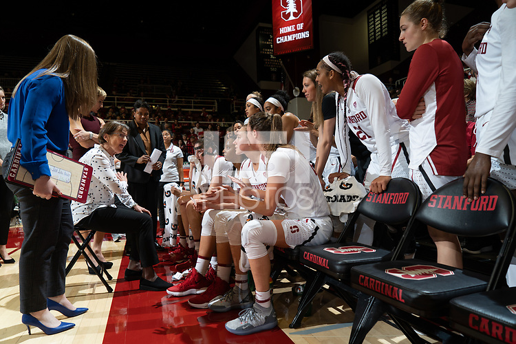 Stanford, Ca - December 15, 2018: The Stanford Cardinal defeats the visiting Baylor Lady Bears 68-63 during non-conference play at Maples Pavilion on Saturday, December 15, 2018.