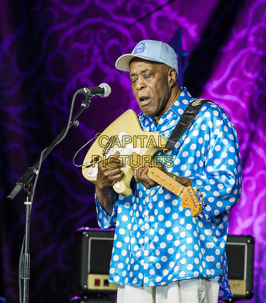 LAS VEGAS, NV - September 12: ***HOUSE COVERAGE*** Buddy Guy pictured at The Big Blues Bender at The Plaza Hotel &amp; Casino in Las Vegas, NV on September 125, 2015. <br /> CAP/MPI/EKP<br /> &copy;EKP/MPI/Capital Pictures