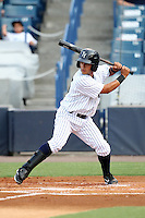 Tampa Yankees Shortstop Walter Ibarra #25 at bat during a game against the Clearwater Threshers at Steinbrenner Field on June 22, 2011 in Tampa, Florida.  The game was suspended due to rain in the 10th inning with a score of 2-2.  (Mike Janes/Four Seam Images)