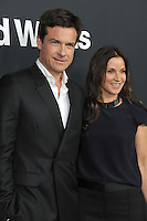 Jason Bateman &amp; wife Amanda Anka at the Los Angeles premiere of his movie &quot;Bad Words&quot; at the Cinerama Dome, Hollywood.<br /> March 5, 2014  Los Angeles, CA<br /> Picture: Paul Smith / Featureflash