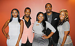 """As The World Turns' & AMC actor Lamman Rucker stars with One Life to Live and B/B Nafessa Williams, Anthony Montgomery now """"Andre Maddox"""" on General Hospital starting Nov. 6, 2015 and (Star Trek), Brely Williams and Olivia Longott  in The Man in 3B with its premier on September 25, 2015 at the 19th Annual Urbanworld Film Festival in New York City, New York and opens nationwide on November 6, 2015. (Photo by Sue Coflin/Max Photos)"""