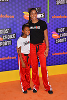 Candace Parker &amp; Lailaa Nicole Williams at the Nickelodeon Kids' Choice Sports Awards 2018 at Barker Hangar, Santa Monica, USA 19 July 2018<br /> Picture: Paul Smith/Featureflash/SilverHub 0208 004 5359 sales@silverhubmedia.com