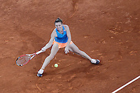 Roumanian tennis player Simona Halep during Madrid Open Tennis 2014 match. May 08, 2014. (ALTERPHOTOS/Victor Blanco)