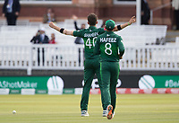 Shaheen Afridi (Pakistan) celebrates for the sixth time in the innings during Pakistan vs Bangladesh, ICC World Cup Cricket at Lord's Cricket Ground on 5th July 2019