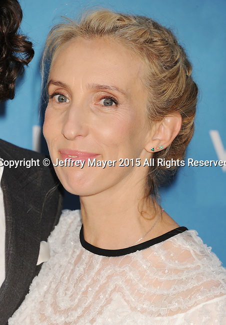 LOS ANGELES, CA - MAY 30: Filmmaker Sam Taylor-Johnson arrives at the 2015 MOCA Gala presented by Louis Vuitton at The Geffen Contemporary at MOCA on May 30, 2015 in Los Angeles, California.