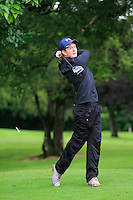 John Ross Galbraith (Whitehead) on the 3rd tee during round 1 of The Mullingar Scratch Cup in Mullingar Golf Club on Sunday 3rd August 2014.<br /> Picture:  Thos Caffrey / www.golffile.ie
