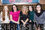 Enjoying the Hermitage Green gig at Fabrik Nightclub Tralee on Saturday were Edel Lynch, Denise Healy, Anna Harrington, Jade O'Mahony and Julie Dexet
