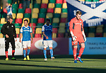 FK Trakai v St Johnstone…06.07.17… Europa League 1st Qualifying Round 2nd Leg, Vilnius, Lithuania.<br />A down cast Zander Clark leaves the pitch at full time<br />Picture by Graeme Hart.<br />Copyright Perthshire Picture Agency<br />Tel: 01738 623350  Mobile: 07990 594431