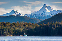 Mount Annahootz, Inside passage waters near Baranof Island, southeast, Alaska.