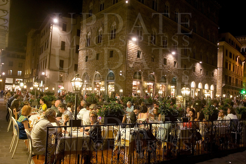 Vita notturna a Firenze.<br /> Nightlife in Florence.<br /> UPDATE IMAGES PRESS/Riccardo De Luca