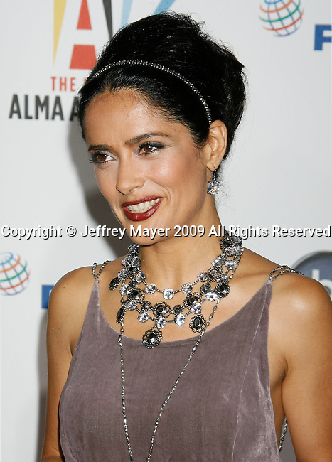 WESTWOOD, CA. - September 17: Salma Hayek arrives at the 2009 ALMA Awards held at Royce Hall on the UCLA Campus on September 17, 2009 in Los Angeles, California.