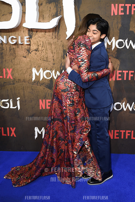 "LONDON, UK. December 04, 2018: Naomie Harris & Rohand Chand at the""Mowgli: Legend of the Jungle"" premiere at the Curzon Mayfair, London.<br /> Picture: Steve Vas/Featureflash"