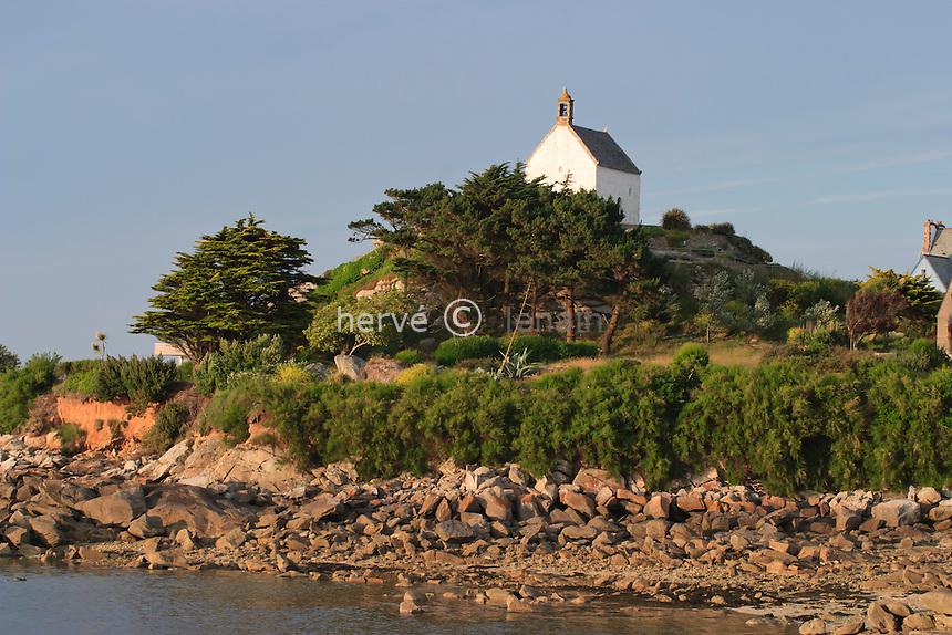 France, Finistère (29), Roscoff, chapelle Sainte-Barbe // France, Finistere, Roscoff, chapel Sainte-Barbe