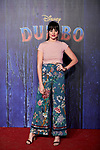 Cristina Abad attends to Dumbo premiere at Principe Pio Theatre in Madrid, Spain. March 27, 2019. (ALTERPHOTOS/A. Perez Meca)