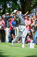 Rory McIlroy (IRL) watches his tee shot on 8 during round 4 of the World Golf Championships, Mexico, Club De Golf Chapultepec, Mexico City, Mexico. 3/5/2017.<br /> Picture: Golffile | Ken Murray<br /> <br /> <br /> All photo usage must carry mandatory copyright credit (&copy; Golffile | Ken Murray)