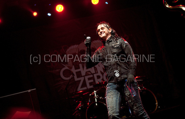 Concert of the Belgian heavy metal band Channel Zero at the Crammerock festival, in Stekene (Belgium, 06/09/2014)