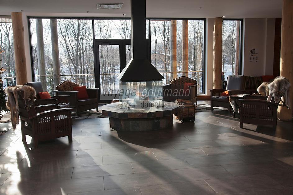 Amérique/Amérique du Nord/Canada/Québec/ Env de Québec/ Wendake:  Salon de l' Hôtel-Musée des Premières Nations