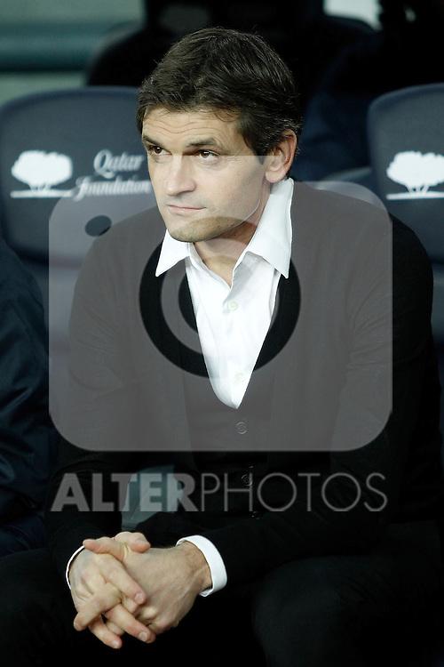 FC Barcelona's coach Tito Vilanova during La Liga match.December 16,2012. (ALTERPHOTOS/Acero)
