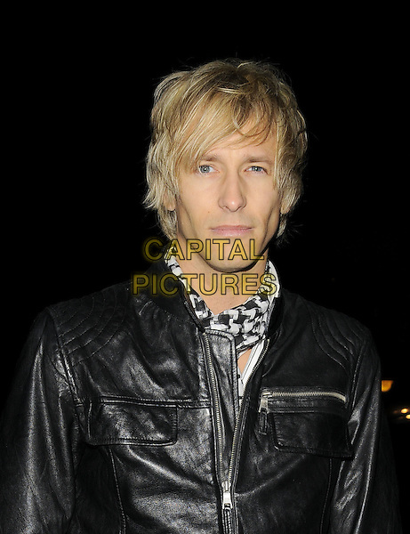 RICK PARFITT JR..At Nancy Dell'Ollio's Christmas Party, Blake-s hotel, Roland Gardens, London, England..December 16th, 2008.dell olio headshot portrait scarf black leather jacket .CAP/CAN.©Can Nguyen/Capital Pictures.
