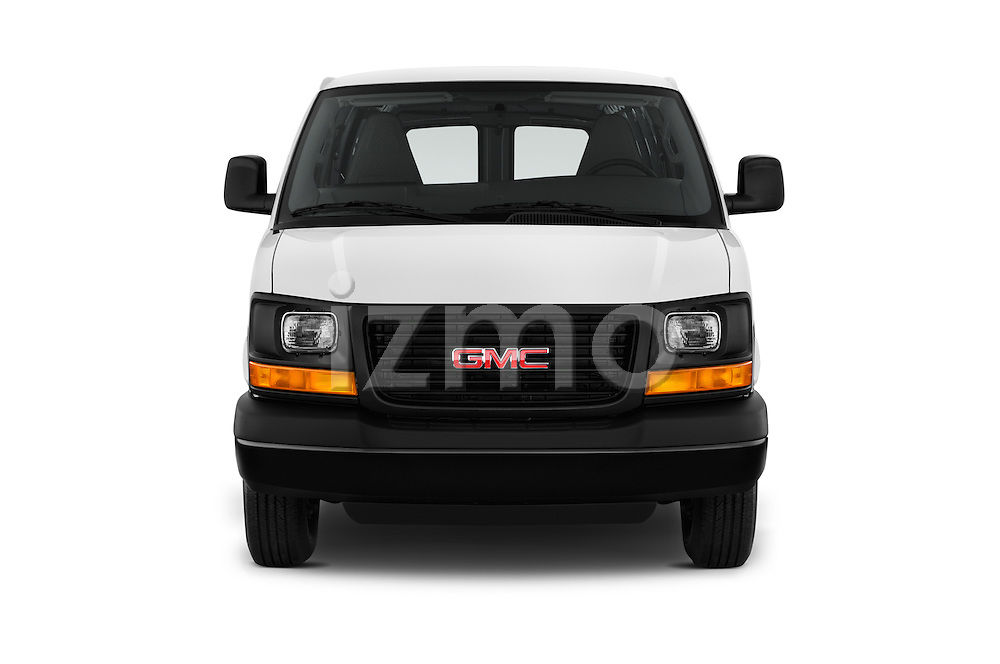 Car photography straight front view of a 2016 GMC Savana-Cargo Work-Van-2500 4 Door Cargo Van Front View