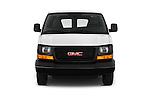 Car photography straight front view of a 2018 GMC Savana-Cargo Work-Van-2500 4 Door Cargo Van Front View