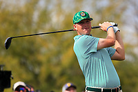 Trey Mullinax (USA) on the 9th tee during the 3rd round of the Waste Management Phoenix Open, TPC Scottsdale, Scottsdale, Arisona, USA. 02/02/2019.<br /> Picture Fran Caffrey / Golffile.ie<br /> <br /> All photo usage must carry mandatory copyright credit (© Golffile | Fran Caffrey)