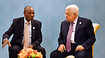 Palestinian President Mahmoud Abbas meets with Alpha Condé, President of the Republic of Guinea in Istanbul, Turkey, December 13, 2017. Photo by Thaer Ganaim