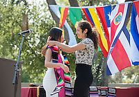 Families and friends gather for the Latinx Cultural Graduation celebration for the class of 2016 at Thorne Hall patio on May 14, 2016.<br />