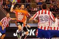 25.03.2012 MADRID, SPAIN -  EHF Champions League match played between BM At. Madrid vs Kadetten Schaffhausen (26-30) at Palacio Vistalegre stadium. the picture show Iwan Ursic (Kadetten Schaffhausen player)