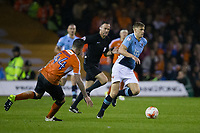 Blackpool's Brad Potts in action during todays match  <br /> <br /> Photographer Craig Mercer/CameraSport<br /> <br /> The EFL Sky Bet League Two Play-Off Semi Final Second Leg - Luton Town v Blackpool - Thursday 18th May 2017 - Kenilworth Road - Luton<br /> <br /> World Copyright &copy; 2017 CameraSport. All rights reserved. 43 Linden Ave. Countesthorpe. Leicester. England. LE8 5PG - Tel: +44 (0) 116 277 4147 - admin@camerasport.com - www.camerasport.com